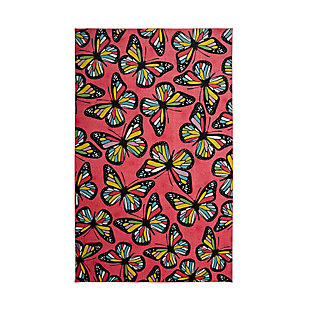 "Mohawk Prismatic Midnight Garden Pink Kids 3'4"" x 5' Area Rug, Red, large"