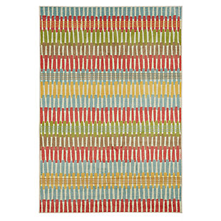 Mohawk Prismatic Optical Lines Kids 5' x 8' Area Rug, Multi, large