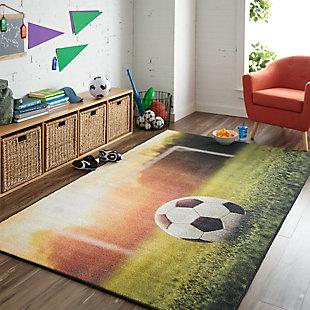 "Mohawk Prismatic Soccer Goal Kids 3'4"" x 5' Area Rug, Multi, rollover"