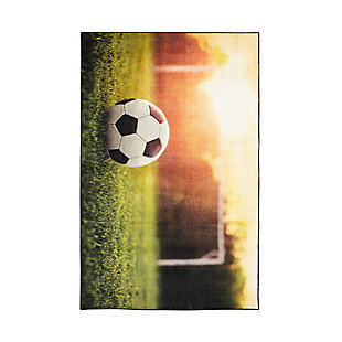 "Mohawk Prismatic Soccer Goal Kids 3'4"" x 5' Area Rug, Multi, large"