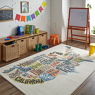 "Mohawk Prismatic States Map Kids 3'4"" x 5' Area Rug, , rollover"