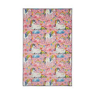 "Mohawk Prismatic Unicorn Wish Pink Kids 3'4"" x 5' Area Rug, Pink, large"