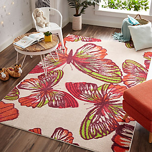 "Mohawk Prismatic Urban Paradise Pink Kids 3'4"" x 5' Area Rug, Multi, rollover"
