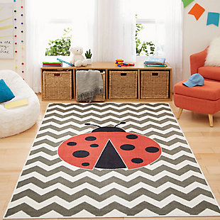 Mohawk Aurora Kids Little Lady Bug 5' x 8' Area Rug, , rollover