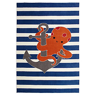 Mohawk Aurora Kids Little Octopus 5' x 8' Area Rug, Navy, large