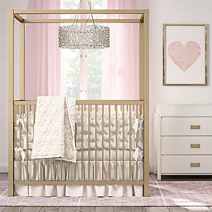 Little Seeds Little Seeds Monarch Hill Haven Gold Metal Canopy Crib, , rollover