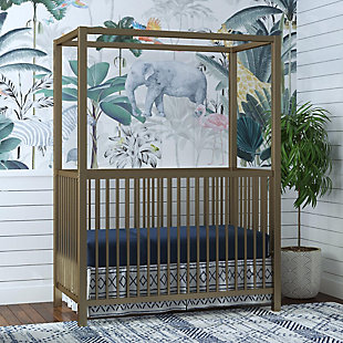 Little Seeds Little Seeds Monarch Hill Haven Gold Metal Canopy Crib, , large
