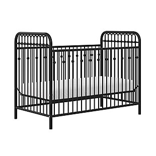Little Seeds Little Seeds Monarch Hill Ivy Black Metal Baby Crib, , large