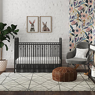 Little Seeds Little Seeds Monarch Hill Ivy Black Metal Baby Crib, , rollover