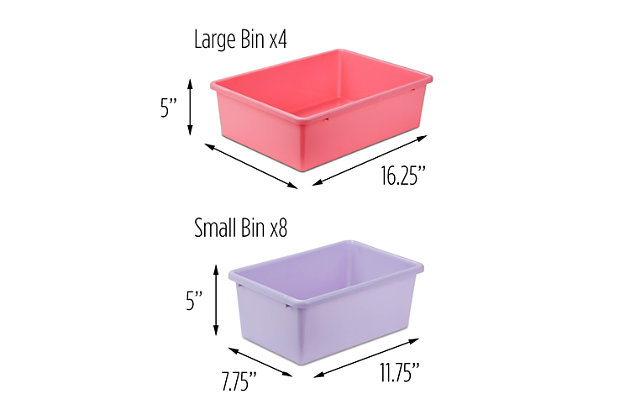 Honey-Can-Do Kids Storage Organizer, White, White, large
