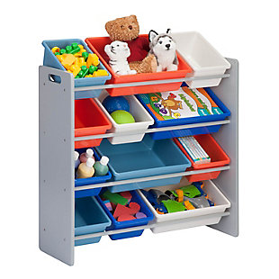 Honey-Can-Do Kids Storage Organizer, Gray, Gray, large