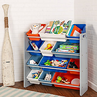 Honey-Can-Do Kids Storage Organizer, Gray, Gray, rollover