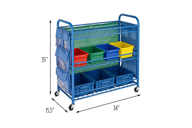 Honey-Can-Do 3-Tier Rolling Teacher's Activity Cart, , large
