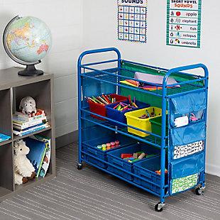 Honey-Can-Do 3-Tier Rolling Teacher's Activity Cart, , rollover