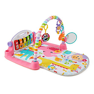Fisher-Price Deluxe Kick and Play Piano Gym, Pink, , large