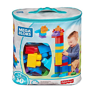 Mattel 80pc Mega Bloks First Builders Big Building Bag Classic, , large