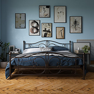 Bradford Metal King Bed, Bronze, rollover