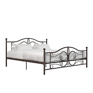 Bradford Metal King Bed, Bronze, large