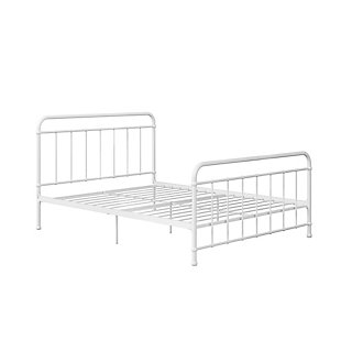 Belmont  Queen Metal Bed, White, large