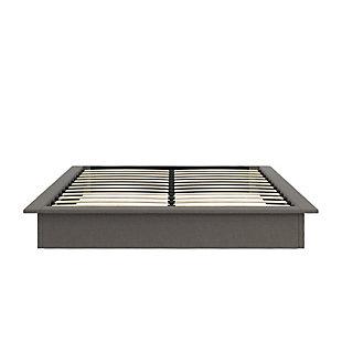 Micah  Upholstered Platform King Bed, Gray, large