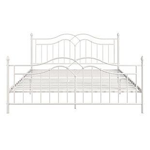 Selene King Bed, White, large