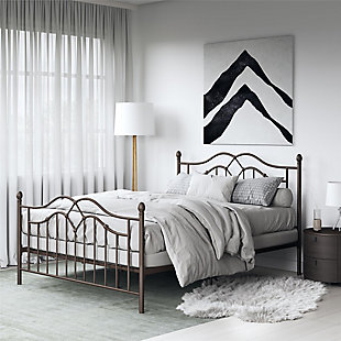 Selene Queen Metal Bed, Bronze, rollover