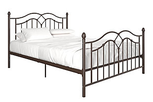 Selene Queen Metal Bed, Bronze, large