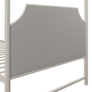 Little Seeds Monarch Hill Clementine Twin Canopy Bed, White, , large