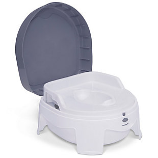Delta Children PerfectSize Potty - Made with Eco-Friendly Recycled Ocean Material, White/Gray, , large