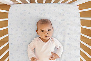 Delta Children PerfectSleeper Deluxe Crib Mattress Pad - 100% Waterproof, Quilted Top, Fitted Protective Crib Mattress Pad, White, , rollover