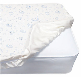 Delta Children PerfectSleeper Deluxe Crib Mattress Pad - 100% Waterproof, Quilted Top, Fitted Protective Crib Mattress Pad, White, , large