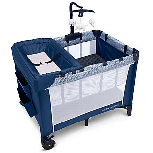 Delta Children LX Deluxe Portable Baby Play Yard With Removable Bassinet and Changing Table, Midnight, , large