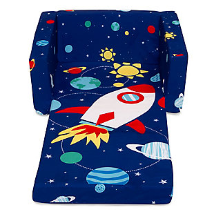 Delta Children Cozee Flip-Out Chair - 2-in-1 Convertible Chair to Lounger for Kids, Space, , large
