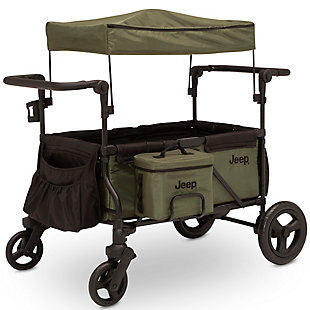 Delta Children Jeep Deluxe Wrangler Wagon Stroller with Cooler Bag and Parent Organizer, , large