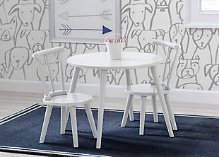 Delta Children Homestead Table and (2) Chair Set, Bianca White, White, rollover