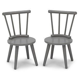 Delta Children Homestead 2pc Chair Set, Gray, , large