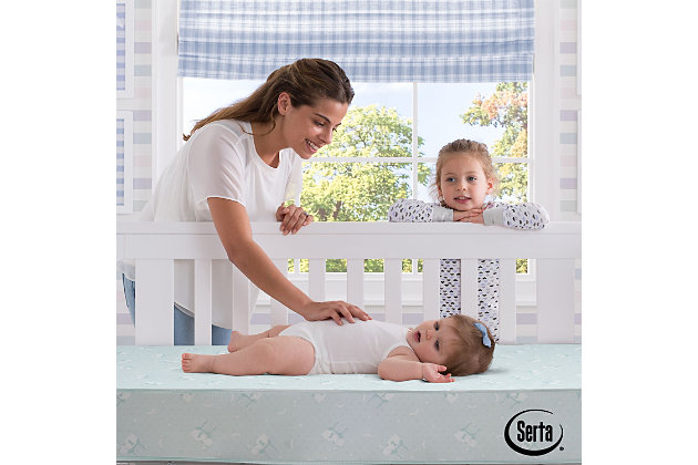 Delta Children Nightstar Deluxe Firm Crib and Toddler Mattress, , large