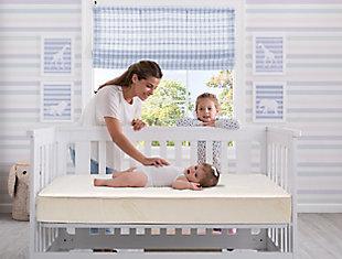 Delta Children Kids Beginnings Pampering Nights Crib and Toddler Mattress, , rollover