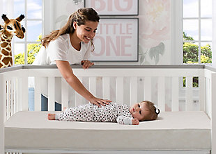 Delta Children Natural Care Sea Mist Crib and Toddler Mattress, , rollover
