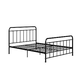 Atwater Living Belmont Full Metal Bed, Black, Black, large