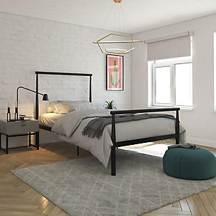 Atwater Living Alia Metal Bed, Twin Black, Black, rollover