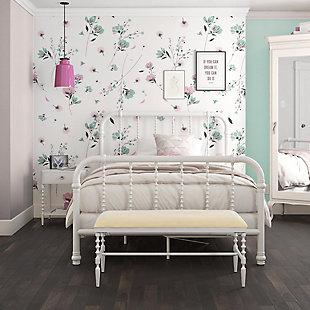 Atwater Living Krissy Full Metal Bed, White, , large