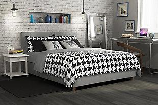 Atwater Living Monet Upholstered Bed, Gray Linen , Full, , rollover
