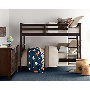 Atwater Living Abigail Twin Bunk Bed, Espresso, Espresso, rollover