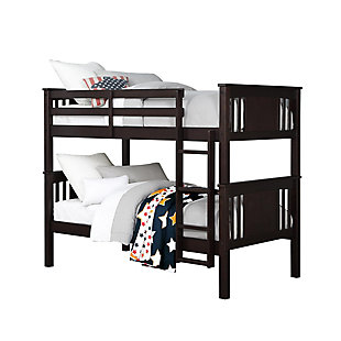 Atwater Living Abigail Twin Bunk Bed, Espresso, Espresso, large