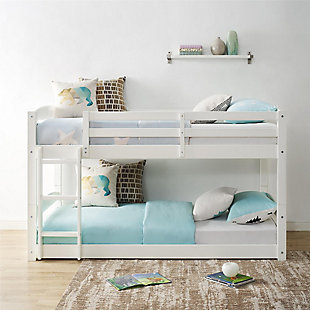 Atwater Living Aaida Twin Bunk Bed, White, White, rollover