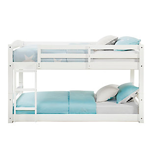 Atwater Living Aaida Twin Bunk Bed, White, White, large