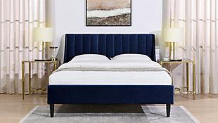 Aspen  Vertical Queen Tufted Platform Bed, Navy Blue, rollover