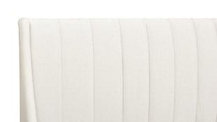Aspen  Vertical Queen Tufted Modern Platform Bed, Cloud White, large