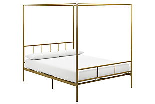 Marion  Queen Canopy Bed, Gold, large
